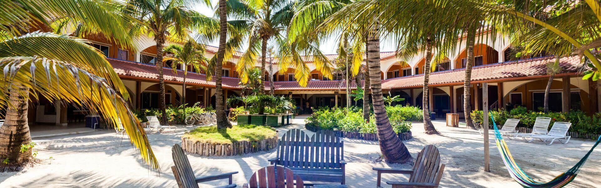 Sunbreeze Courtyard Seating Area Ambergris Caye Beize